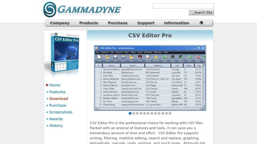 CSV Editor Pro Landing Page