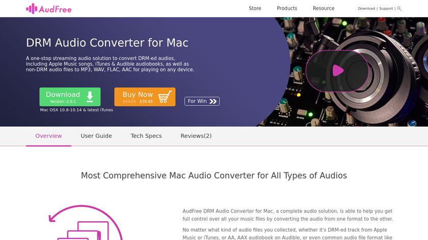 AudFree Apple Music Converter Landing Page
