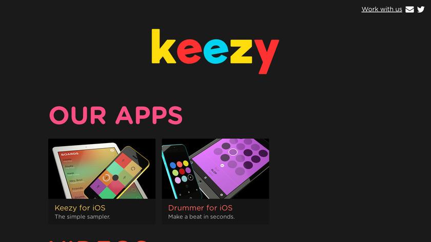 Keezy Drummer Landing Page