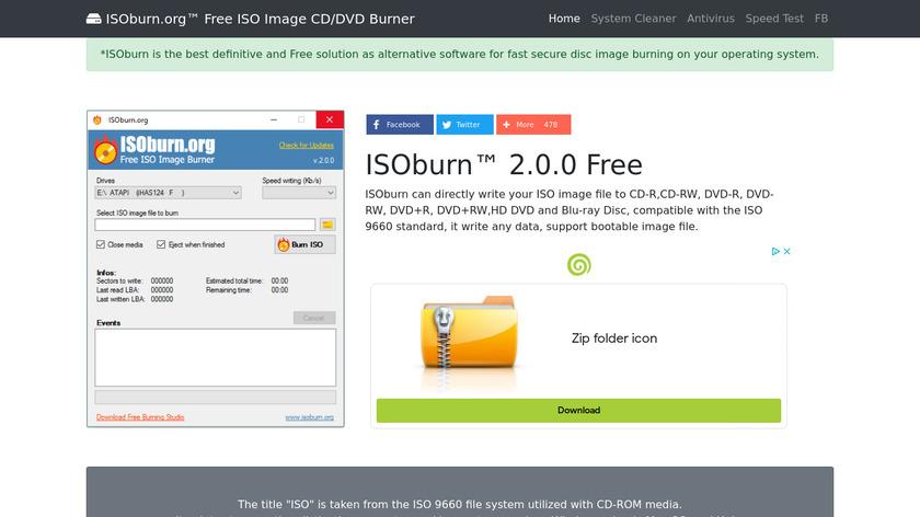 ISOburn Landing Page
