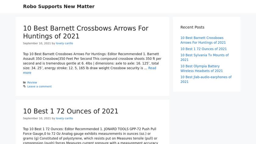 New Matter Landing Page