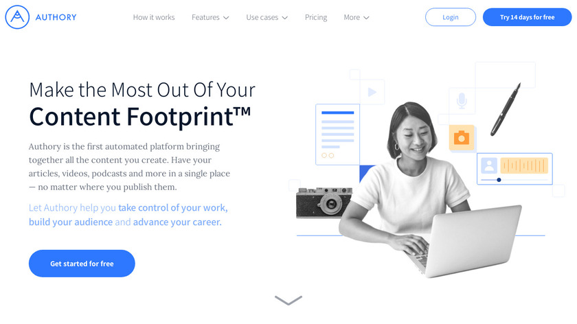 Authory Landing Page