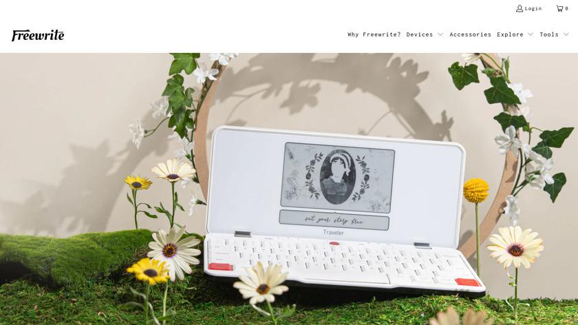 Freewrite Smart Typewriter Landing Page