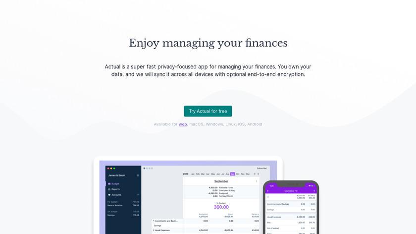 Actual Budget Landing Page
