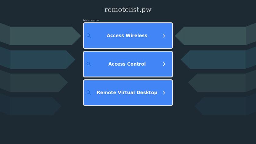 RemoteList Landing Page