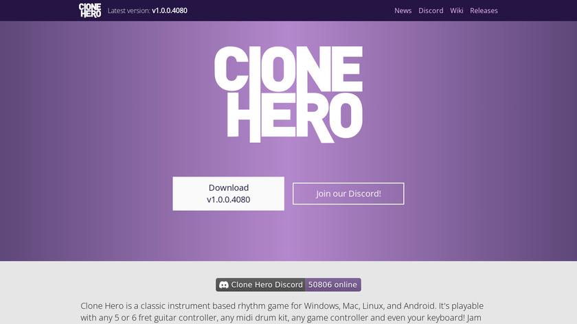 Clone Hero Landing Page