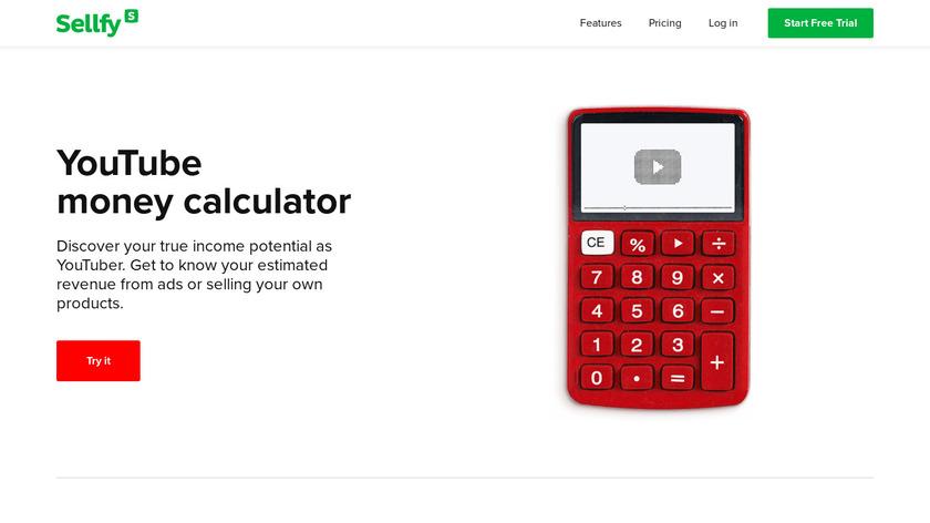 YouTube Revenue Calculator Landing Page