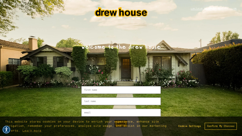 Drew House Landing Page