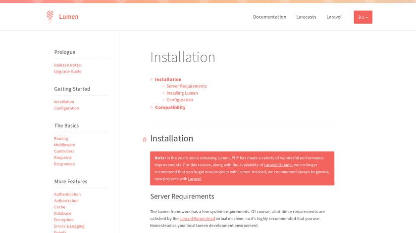 Lumen Landing Page