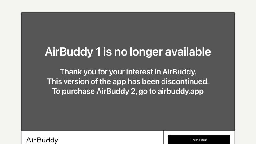 AirBuddy Landing Page