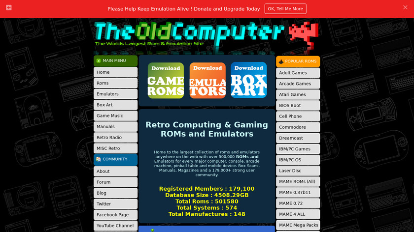 The Old Computer Landing Page