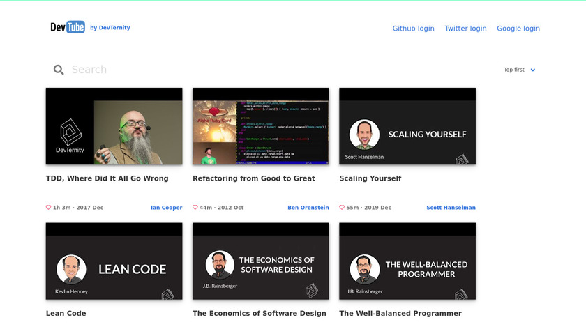 DevTube Landing Page