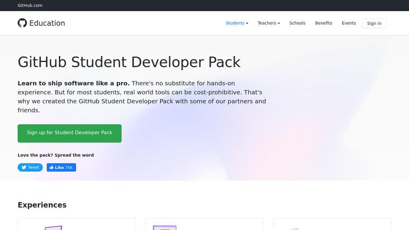GitHub Student Developer Pack Landing Page
