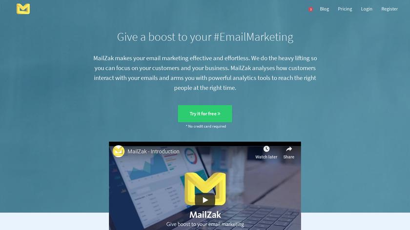 Mailzak Landing Page