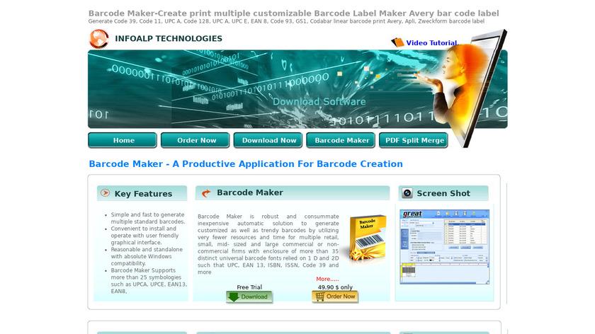 Barcode Maker Landing Page