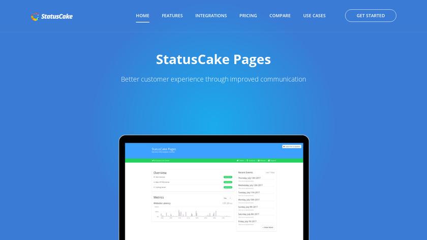 StatusCake Pages Landing Page