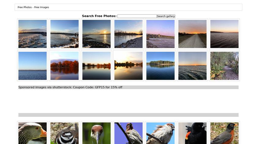 Good Free Photos Landing Page