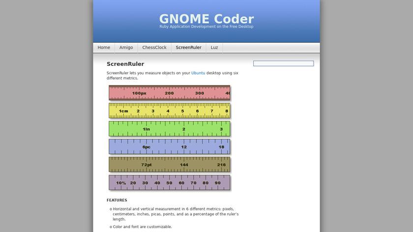 ScreenRuler Landing Page