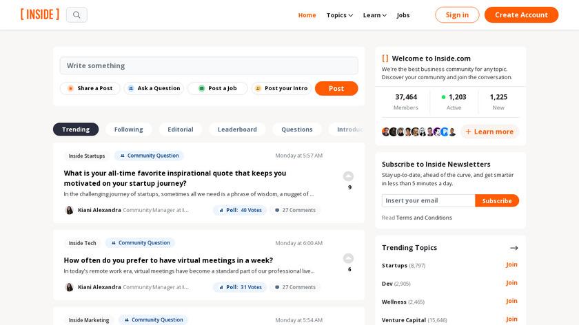 Inside.com Landing Page