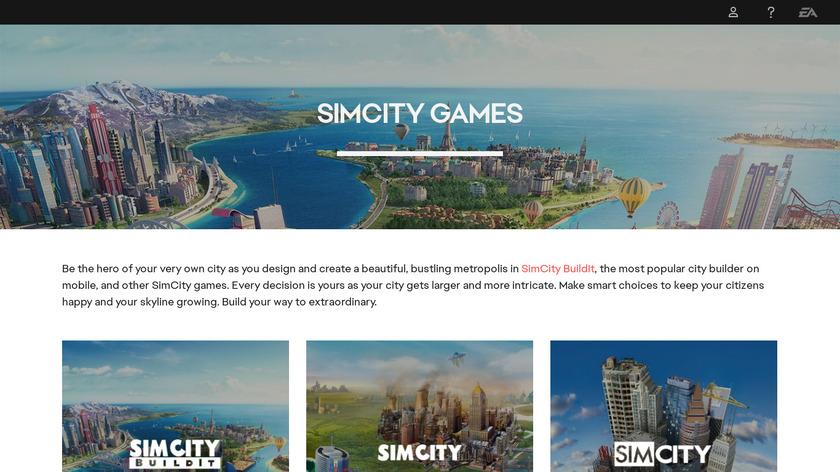SimCity BuildIt Landing Page