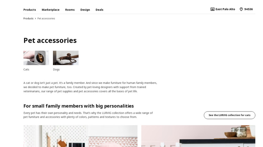 IKEA for Pets Landing Page