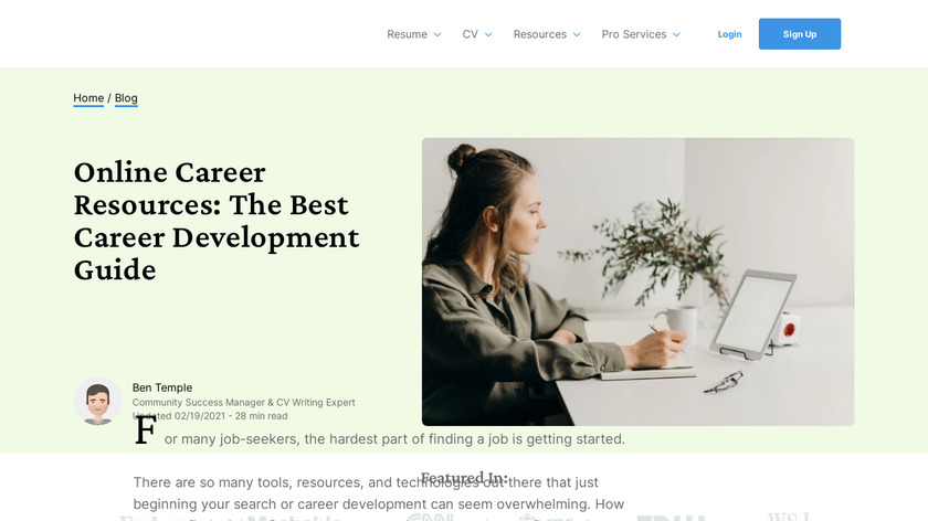 Career Cache Landing Page