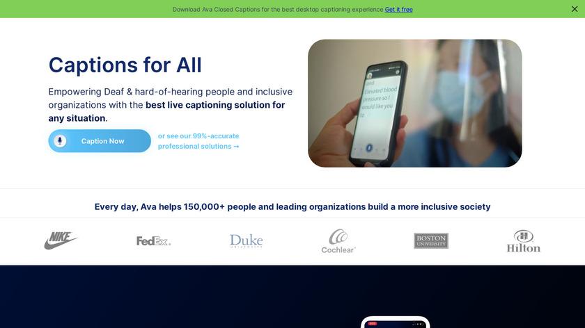 Ava Landing Page