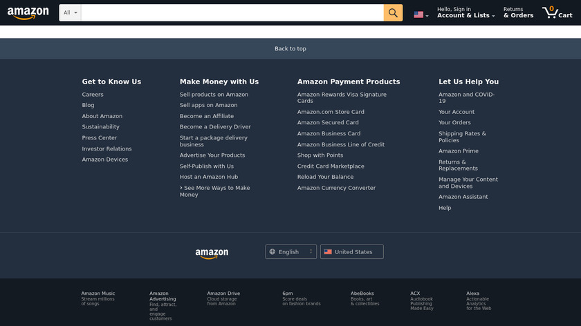 Amazon Restaurants Landing Page