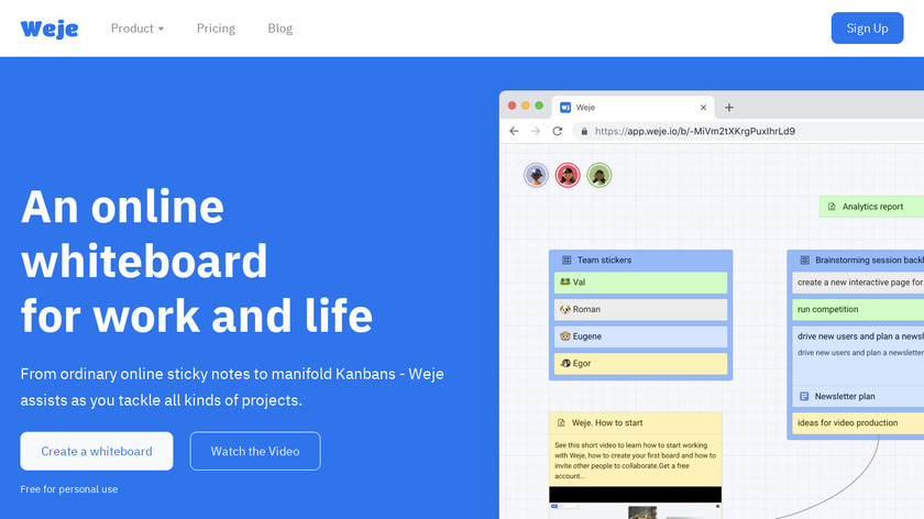 Webjets.io Landing Page