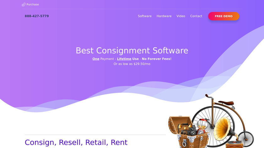 Best Consignment Shop Software Landing Page