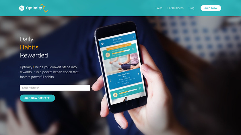 Optimity: Live.Work.Play Landing Page