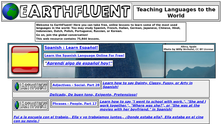 EarthFluent Landing Page