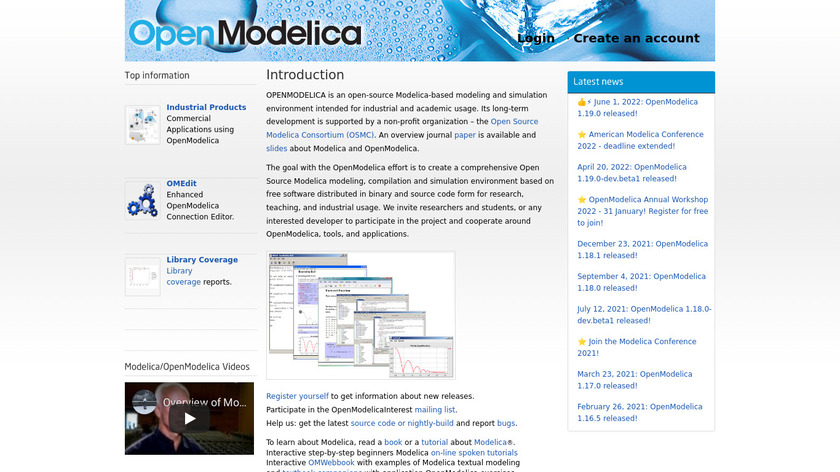 OpenModelica Landing Page