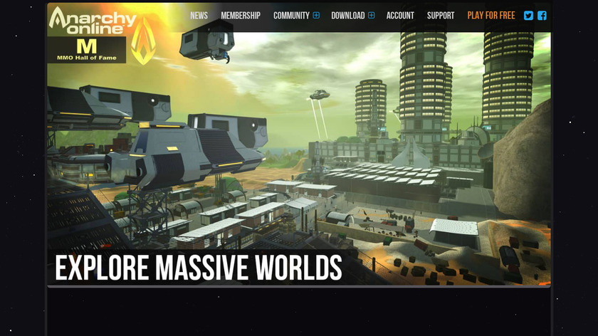 Anarchy Online Landing Page