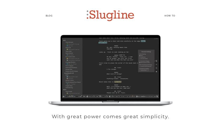 Slugline Landing Page