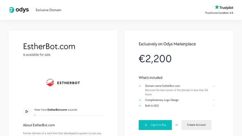 Estherbot Landing Page