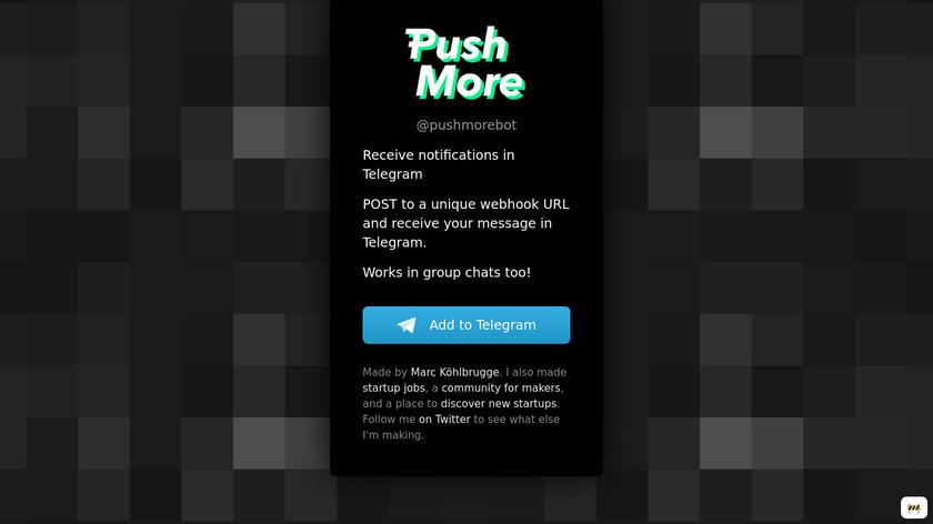 Push More Landing Page