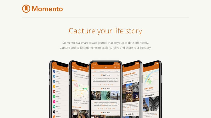 Momento Landing Page