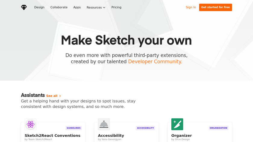 Sketch Extensions Landing Page