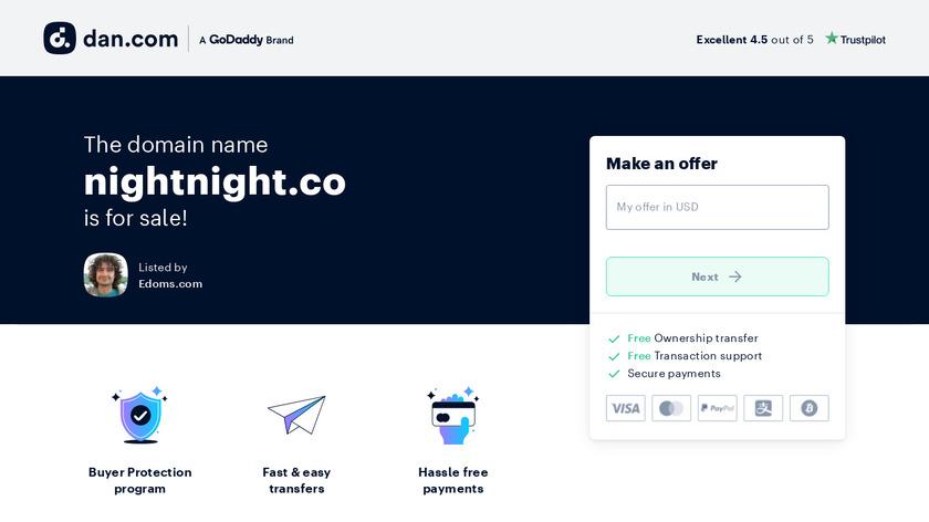 NightNight Landing Page