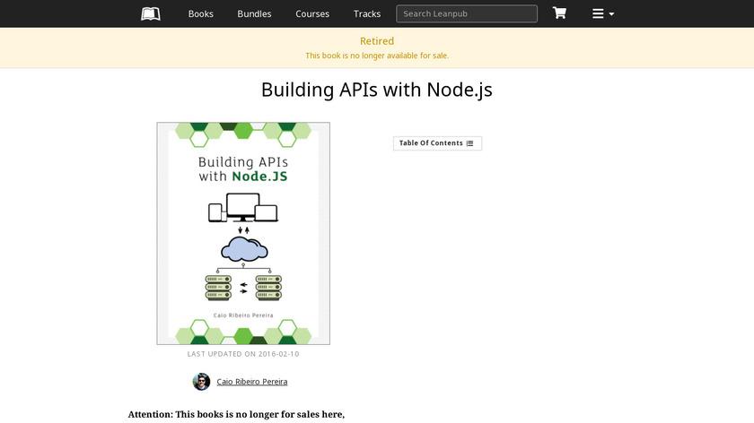 Building APIs with Node.js Landing Page