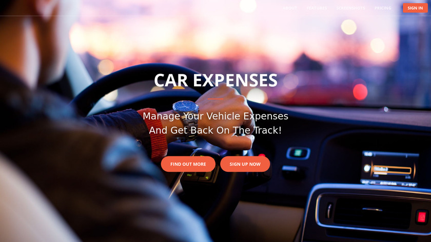 Car Expenses Landing Page