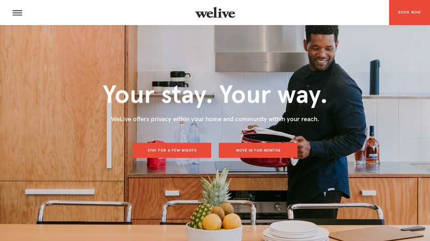 WeLive Landing Page