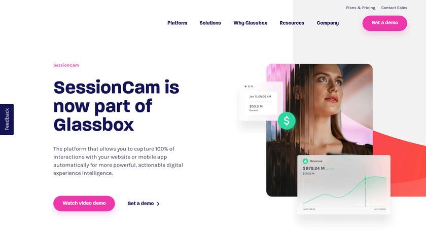 SessionCam Landing Page