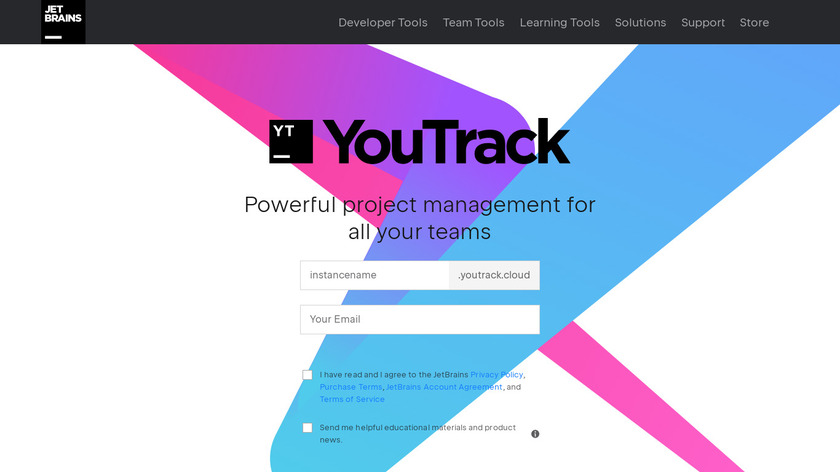 YouTrack Landing Page