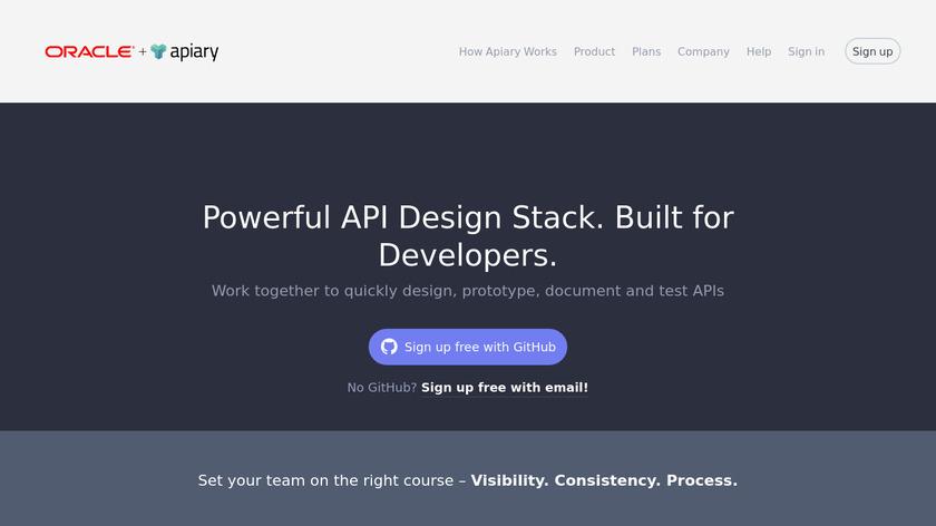 Apiary Landing Page