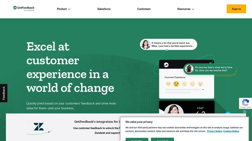 GetFeedback Landing Page
