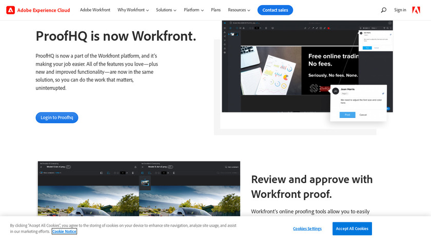 Proof HQ Landing Page