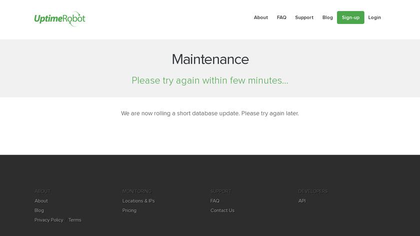 UptimeRobot Landing Page