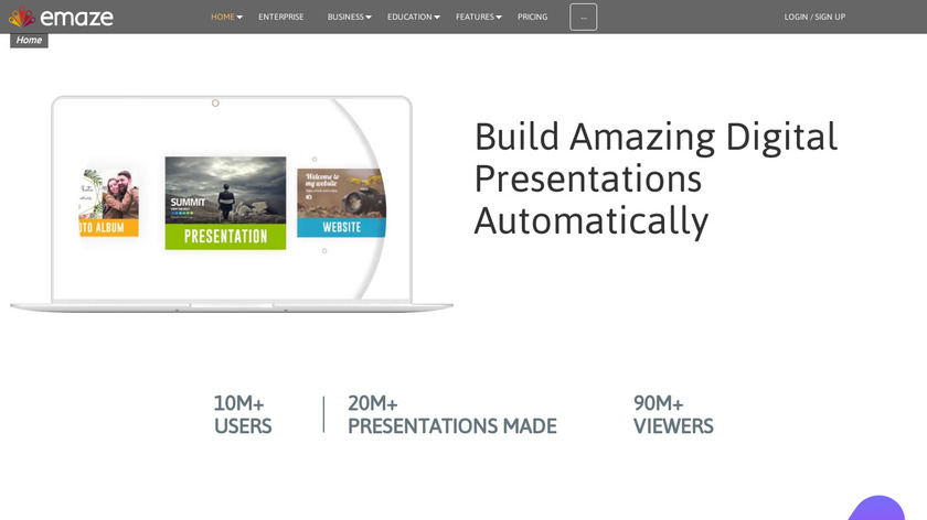 emaze Landing Page